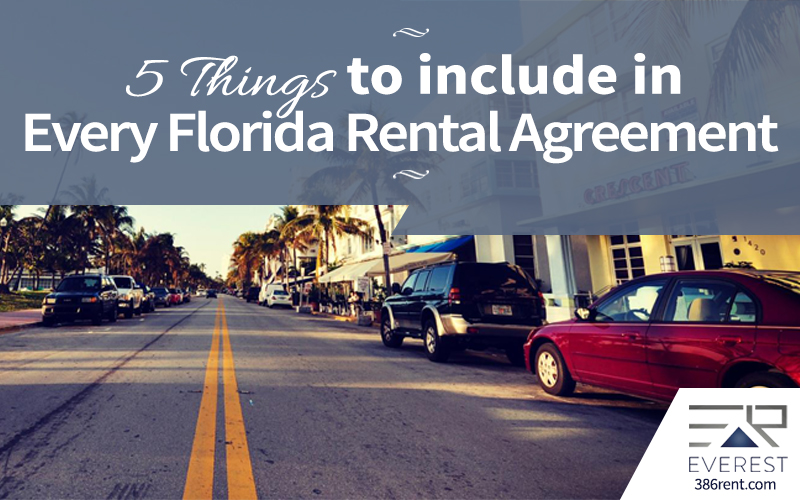 5 Things To Include In Every Florida Rental Agreement